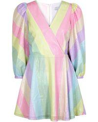 Olivia Rubin Amber Pastel Striped Sequin Mini Dress - Multicolour