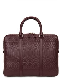 Paul Smith - No.9 Burgundy Embossed Leather Briefcase - Lyst