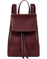 Gvyn - Cole 2.0 Burgundy Leather Backpack - Lyst