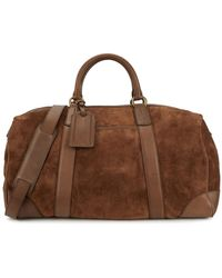 Polo Ralph Lauren Brown Leather And Suede Holdall