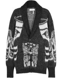 Facetasm - Totem Pole Jacquard-knit Cardigan - Lyst
