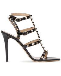 Valentino Rockstud Sandal - Black