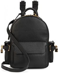 Buscemi - Phd Mini Black Leather Backpack - Lyst