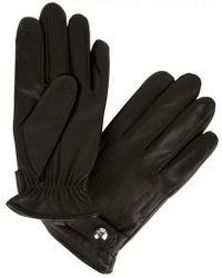 Polo Ralph Lauren - Black Leather Gloves - Lyst