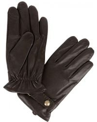 Polo Ralph Lauren - Brown Leather Gloves - Lyst