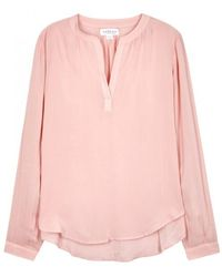 Rosie Pink Jersey Blouse - Size L