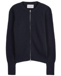 Our Legacy - Navy Ribbed Wool Cardigan - Size M - Lyst