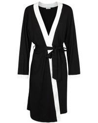 Luna di Seta - Black Silk Jersey Robe - Size L - Lyst