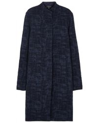 Eileen Fisher - Navy Textured Jacquard Jacket - Size L - Lyst