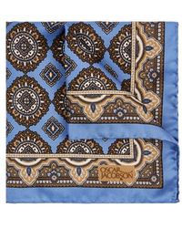 Oscar Jacobson - Paisley-print Silk Pocket Square - Lyst