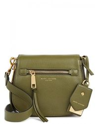 Marc Jacobs - Recruit Small Olive Leather Shoulder Bag - Lyst