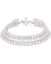 Fallon Crystal-embellished Silver-tone Bracelet - Metallic