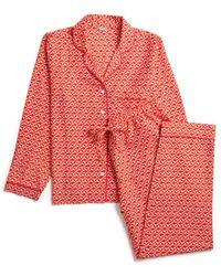 Jigsaw Petal Geo Pyjamas - Red