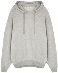 American Vintage Neaford Grey Hooded Cotton-blend Sweatshirt