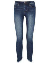 Articles of Society - Sammy Blue Distressed Skinny Jeans - Lyst