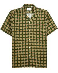NN07 Miyagi Printed -blend Shirt - Green
