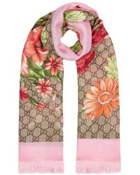 Gucci - Spring Bouquet Printed Modal-blend Scarf - Lyst