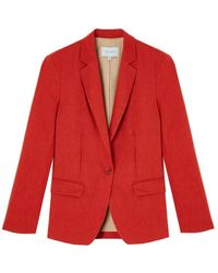 Jigsaw Portofino Linen Jacket - Red