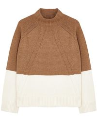 By Malene Birger Begonia High-neck Wool-blend Sweater - Brown