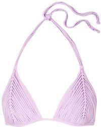 Pilyq - Isla Lilac Fringed Bikini Top - Lyst