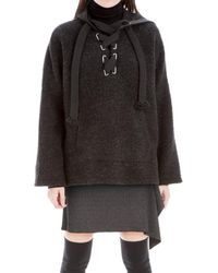 Leon Max - Knit Wool Pullover Hoodie - Lyst