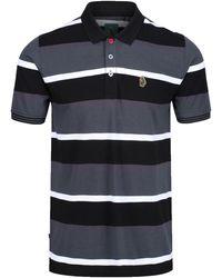 Luke 1977 Stripe New Mead Black Polo