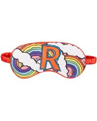 Jessica Russell Flint R For Rainbow Printed Silk Eye Mask - Red
