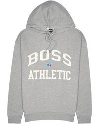 BOSS by HUGO BOSS X Russell Athletic Grey Cotton Sweatshirt