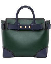 Burberry The Medium Leather Triple Stud Belt Bag - Green