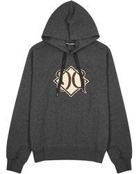 Dolce & Gabbana Gray Logo-appliquéd Cotton Sweatshirt - Black