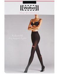 Wolford | Velvet Black 66 Denier Support Tights - Size S | Lyst