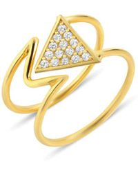 GFG Jewellery by Nilufer Mara Diamond Ring - Metallic
