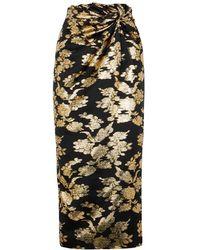 16Arlington Moriyo Floral-jacquard Midi Skirt - Multicolour