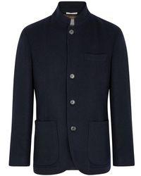 Brunello Cucinelli - Navy Cashmere Jacket - Lyst