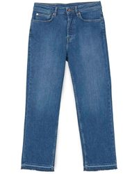 Jigsaw Lea Straight Leg Crop Jean - Blue