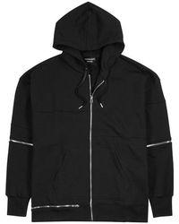 Alexander McQueen - Black Zipped Cotton Sweatshirt - Lyst