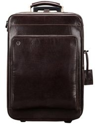 Maxwell Scott Bags Choc Women's Hard Suitcase In Brown