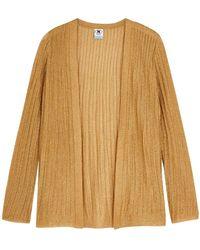 M Missoni Gold Metallic-knit Cardigan