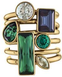 Atelier Swarovski Beautiful Earth Stacking Ring Set - Metallic