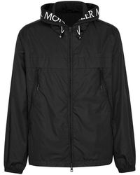 Moncler - Massereau Black Hooded Shell Jacket - Lyst