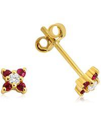 GFG Jewellery by Nilufer Seraphina Ruby Earrings - Studs - Metallic