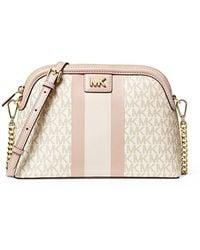 MICHAEL Michael Kors Mott Crossbody Bag Vanilla/softpink - White