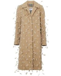0e8cba26e Gucci Pintucked Butterfly-embellished Belt Coat in Yellow - Lyst