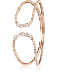 Mozafarian Gold And Diamond Bangle - Metallic