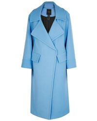 Smythe - Blanket Blue Wool-blend Coat - Lyst