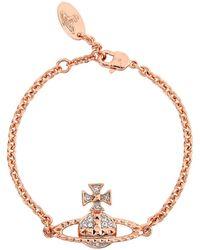 Vivienne Westwood - Mayfair Bas Relief Rose Gold-tone Bracelet - Lyst