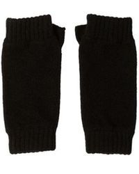 Johnstons Black Cashmere Wristwarmers