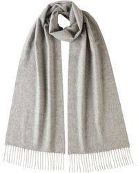 Johnstons Silver Classic Cashmere Scarf - Metallic