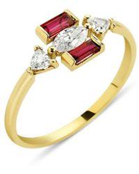 GFG Jewellery by Nilufer Eline Ruby Ring - Metallic