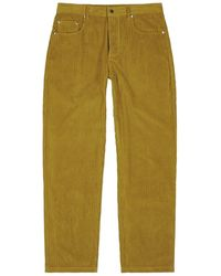 A Kind Of Guise Odon Mustard Corduroy Pants - Yellow